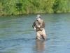 Jason Bleibtreau hooks into a trout