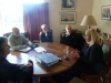 Taupo MP, Louise Upston, discusses progress withMaryke Wilson,Turangi i-site, Peter Baldwin, National Trout Centre Deputy President, Stuart Crosbie and Neville Young, AFTR committee and Louise Upston