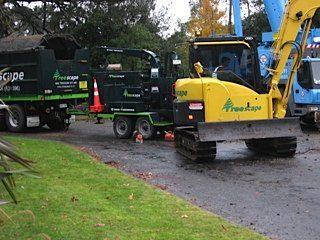 Heavy machinery used