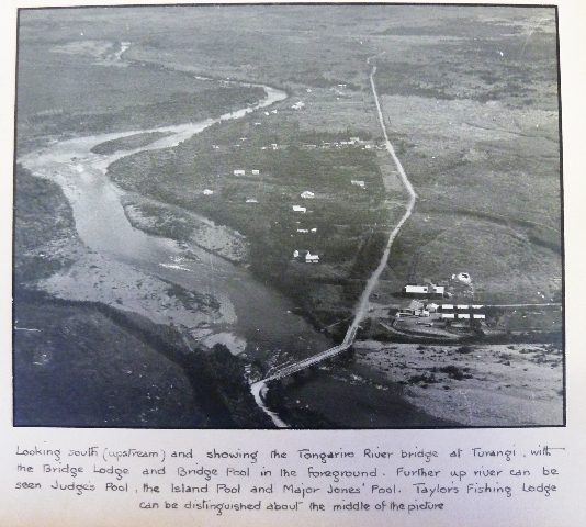 Upstream from the Highway bridge in 1951