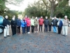 Group at blessing for the start of work on the Tongariro River Trail