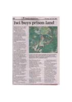 Iwi Purchase Prison Land 2015